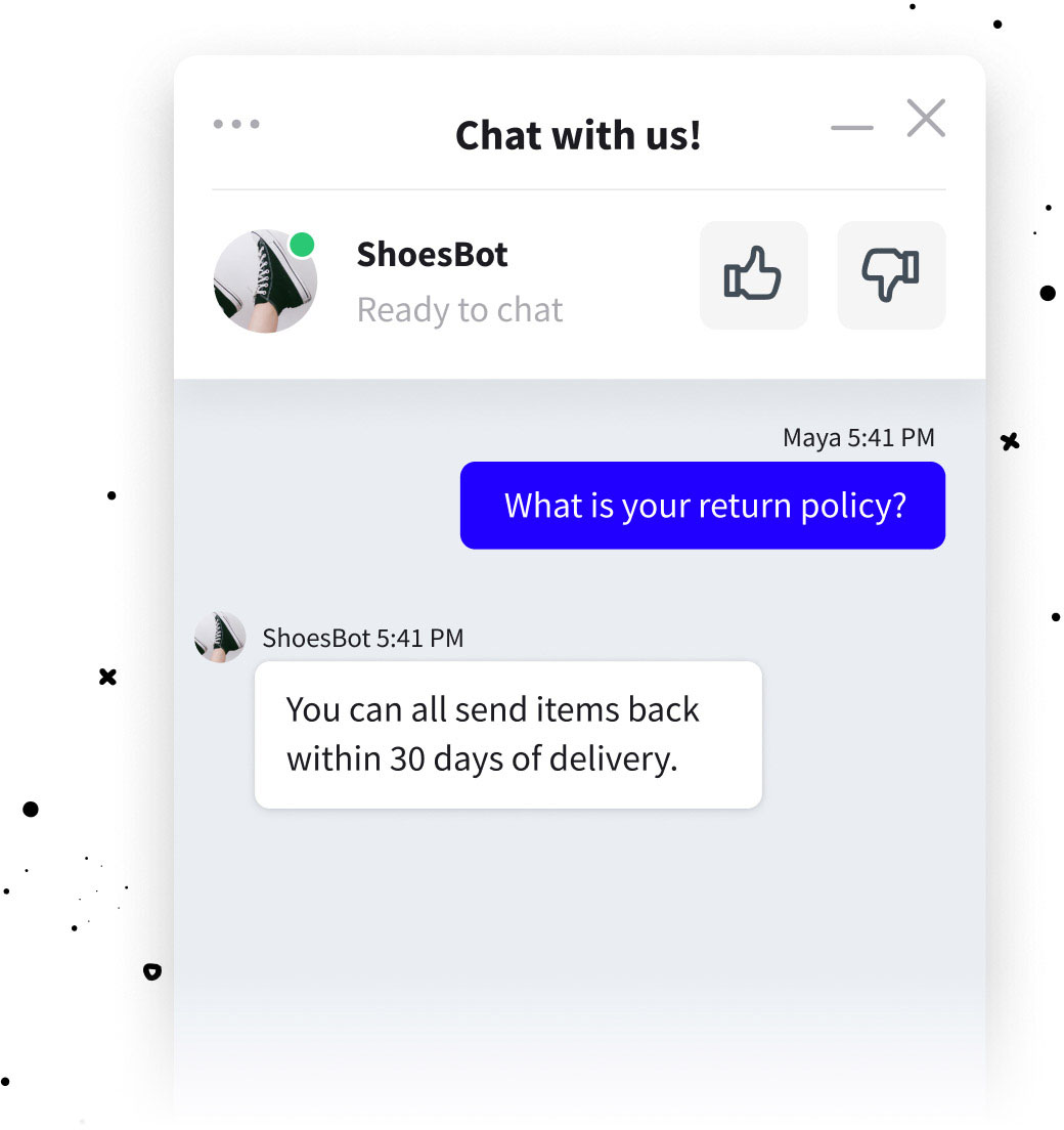 FAQ chat bot for LiveChat integration