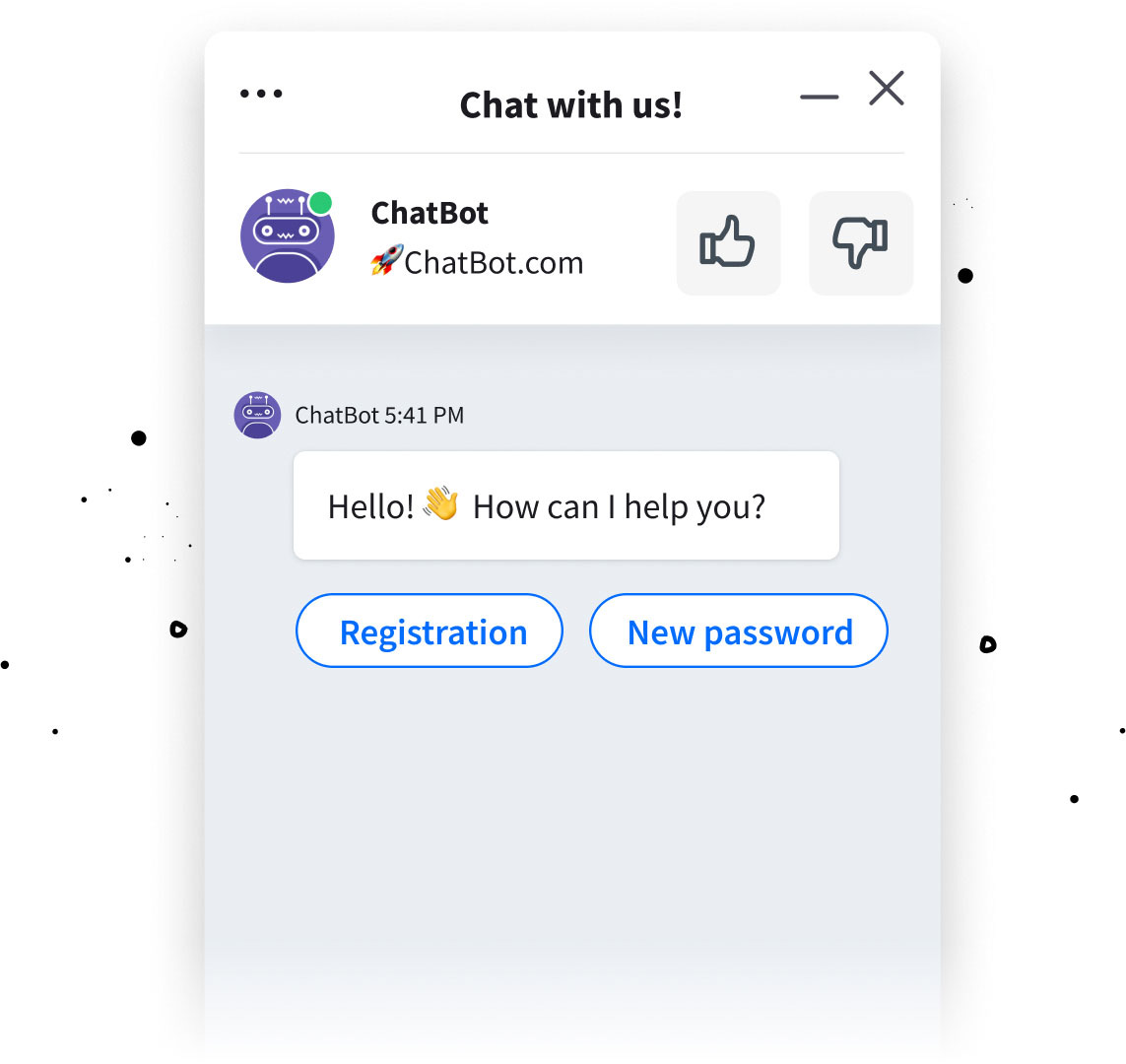 Chat bot rich messages for LiveChat integration - quick replies