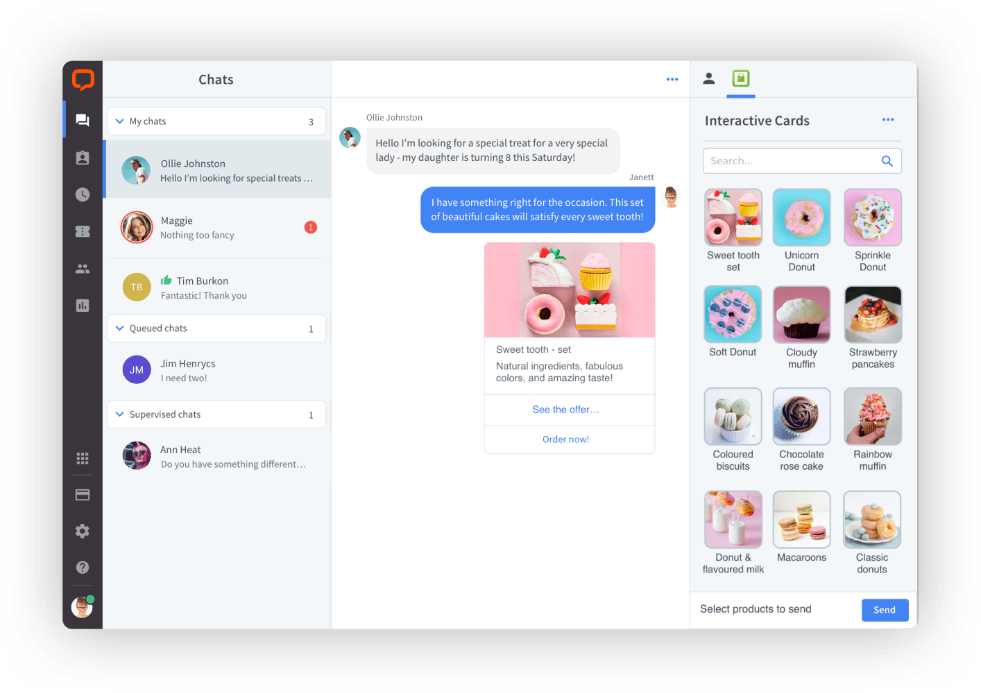 Customer service app by LiveChat