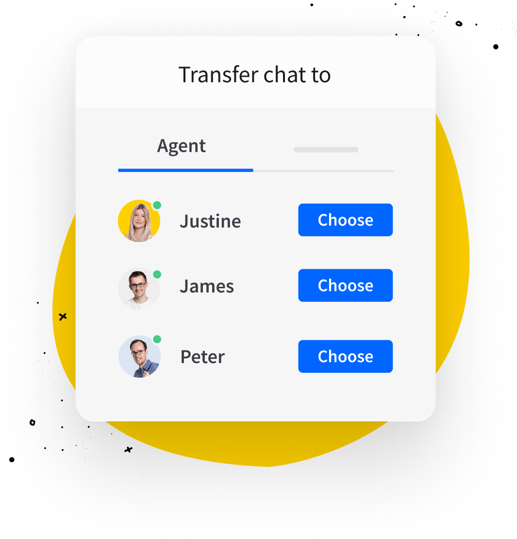 Chat transfer in LiveChat