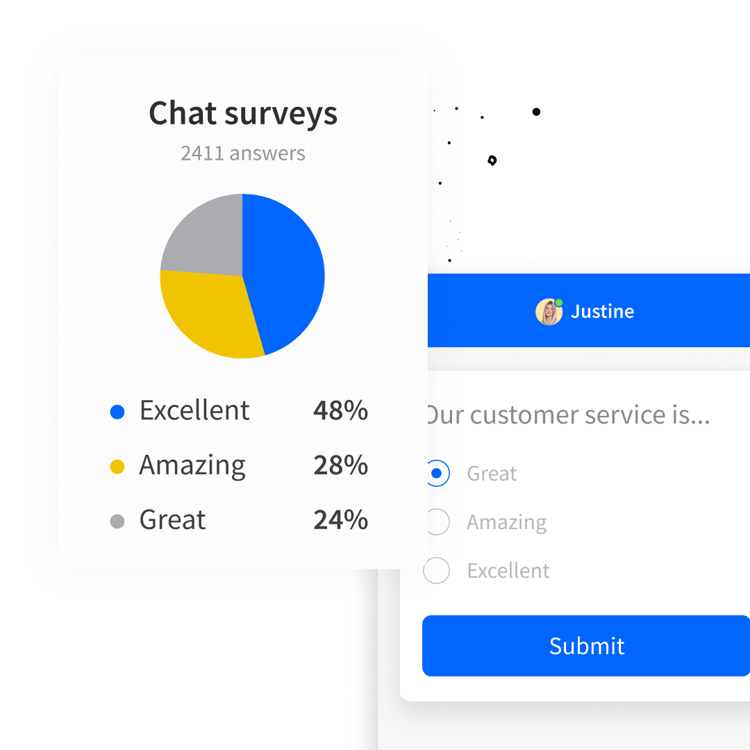 Post-chat survey in the chat widget