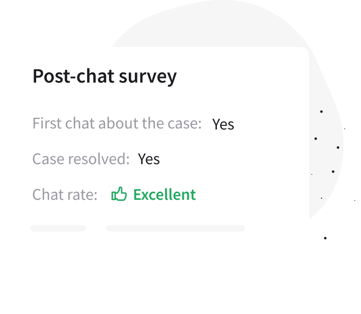 Post-chat survey