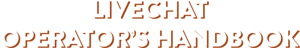 LiveChat Operator's Handbook