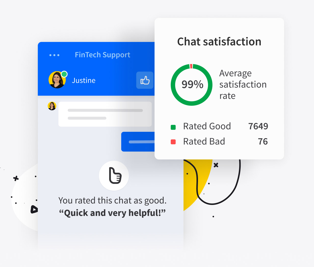 Feedback from live chat