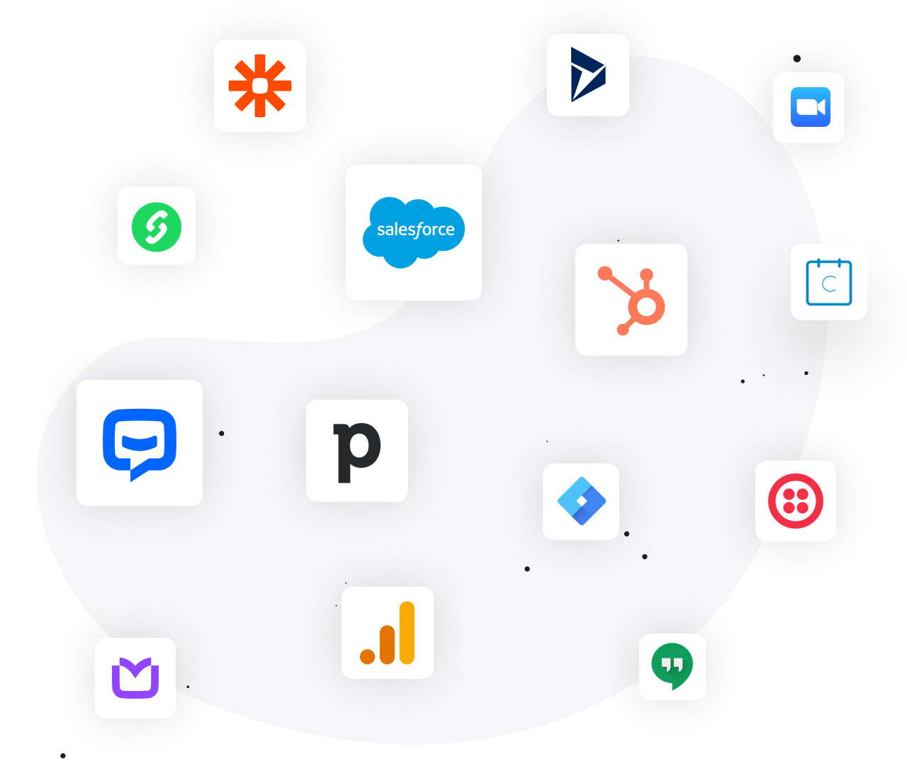 LiveChat integrations for finance industry: Zapier, Pipedrive, Twilio, Google Analytics, and more...