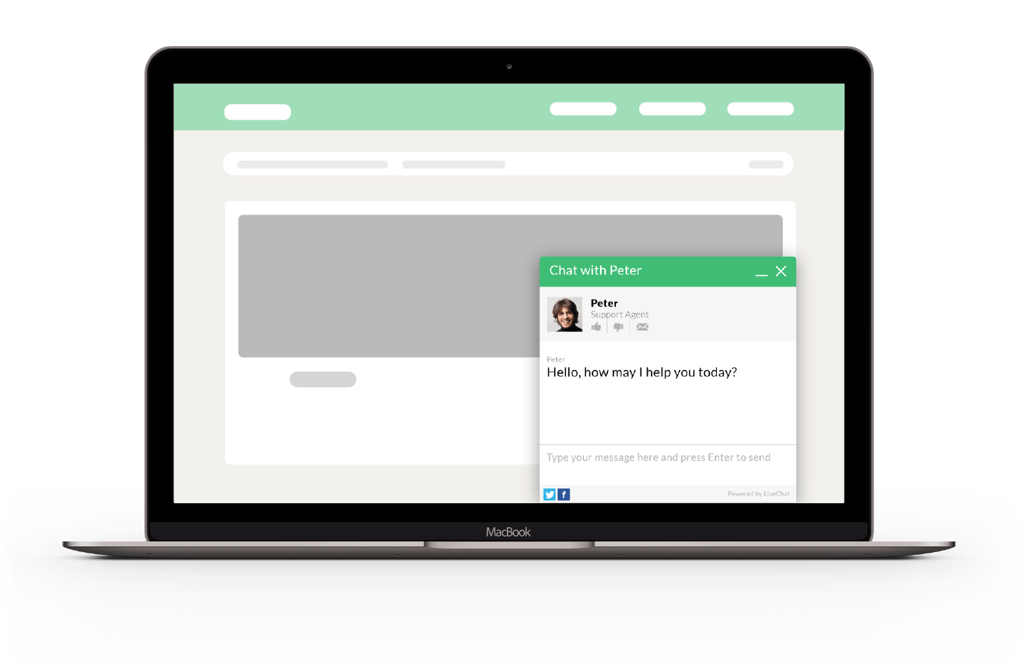 Chat with your customers on website through LiveChat