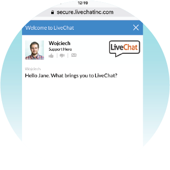 Invite visitors to chat on mobile