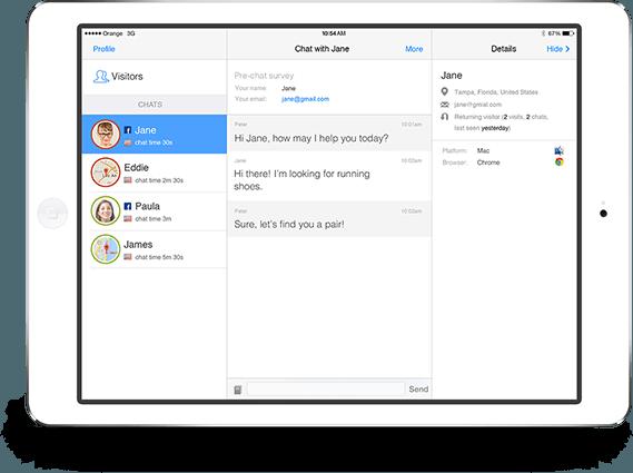 LiveChat für iPad