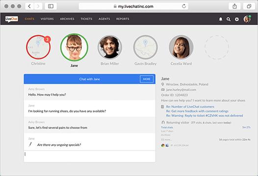 LiveChat für Webbrowser