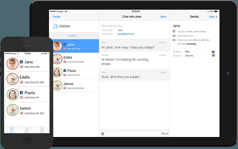 Recorrido de LiveChat: Aplicaciones