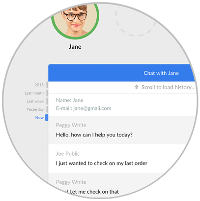 Recorrido de LiveChat: Historial de chats anteriores