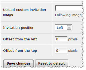 Changing the invitation position in LiveChat