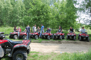 On ATVs, a few minutes before the trip