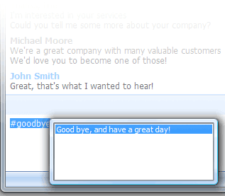 Canned Responses in LiveChat