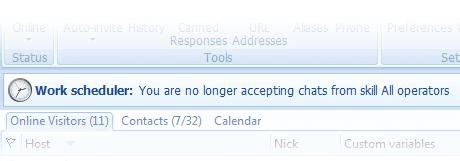 Work Scheduler in LiveChat