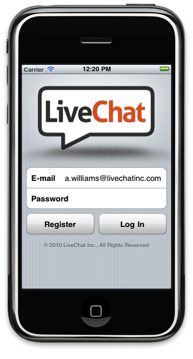 LiveChat app for iPhone/iPod