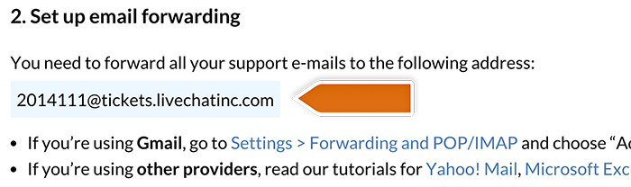 Copying forwarding address
