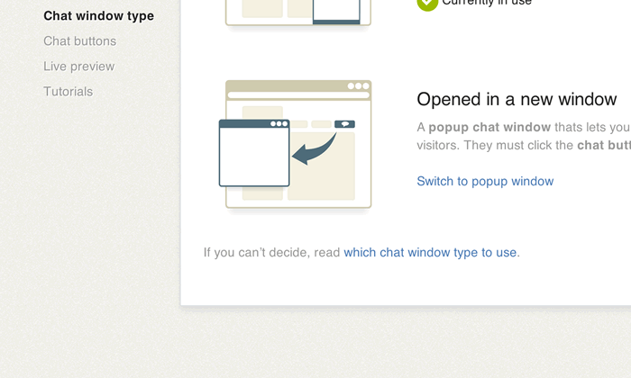 Popup chat window