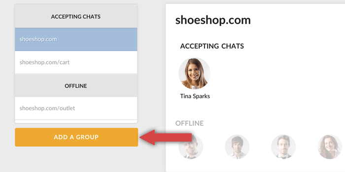 adding new group in LiveChat