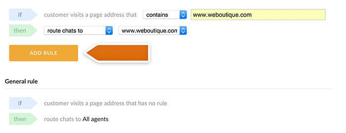 Saving URL rule for one website