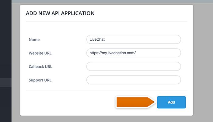 Desk.com integration: adding new API app