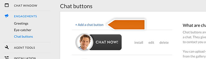 Adding a chat button