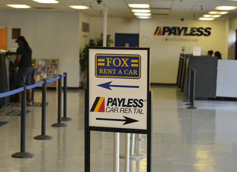 At Fox Rent A Car Office