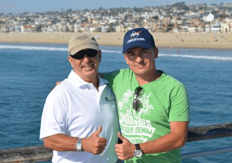 Ed Kushins with Mariusz Cieply