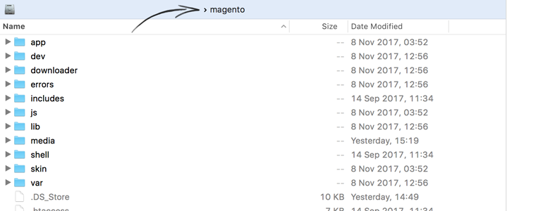 Upload LiveChat plugin into your Magento's installation directory