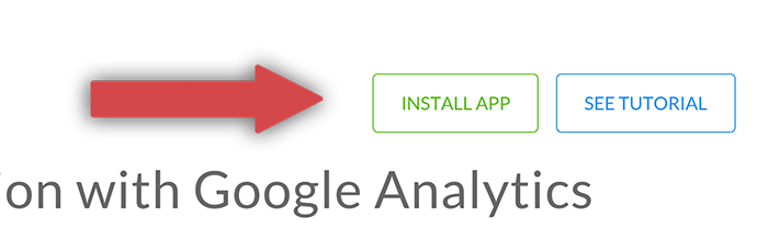 Installing the Google Analytics integration