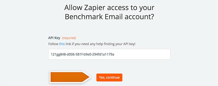 Authorizing application in Zapier