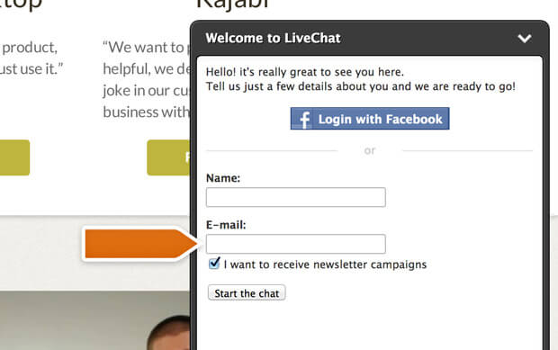GetResponse integration with LiveChat in action