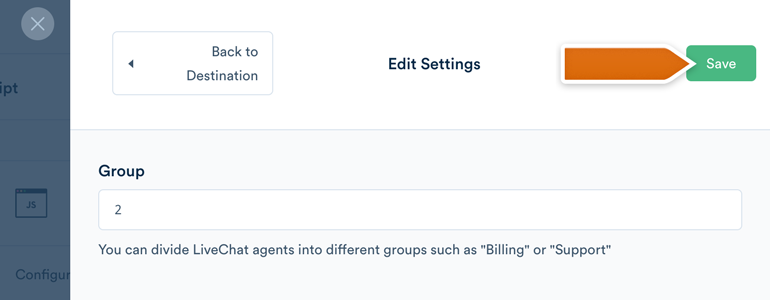 Specify the group ID in Segment