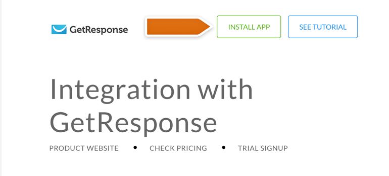 Installing GetResponse integration