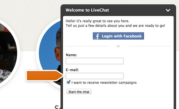 Newsletter signup in pre-chat survey with iContact integration