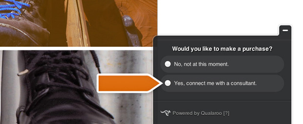 Qualaroo integration helps engage qualified leads through LiveChat