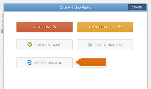 TeamViewer integration with LiveChat