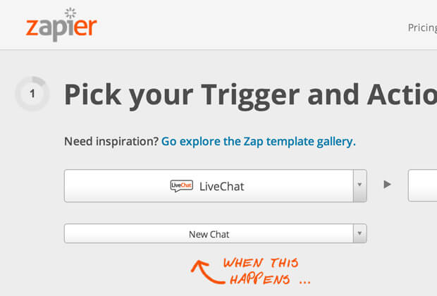 Zapier integration with LiveChat