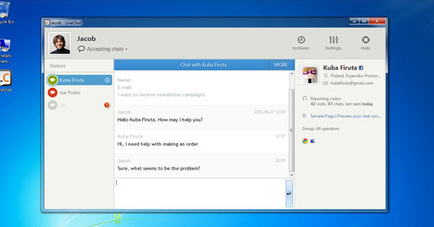 LiveChat Windows application update