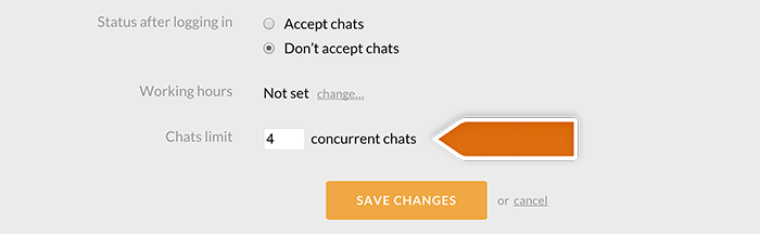 Changing concurrent chats limit