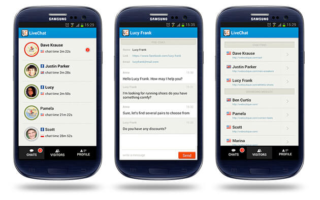 Android LiveChat app update