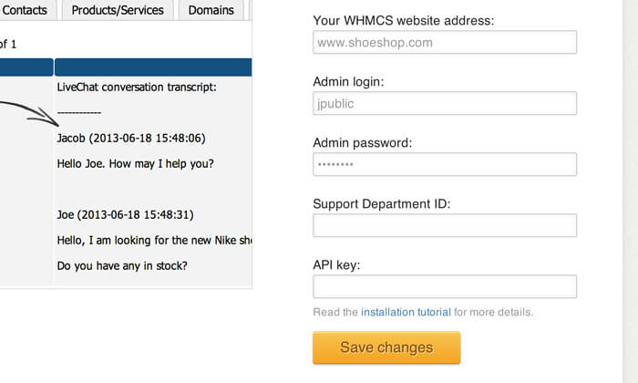 Configuring WHMCS integration