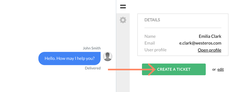 Zendesk LiveChat: Create a simple ticket