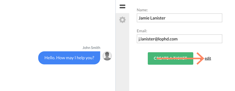 Zendesk LiveChat: Create an advanced ticket for a first-time visitor