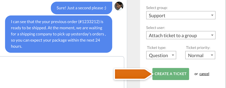 Zendesk LiveChat: create an advanced ticket