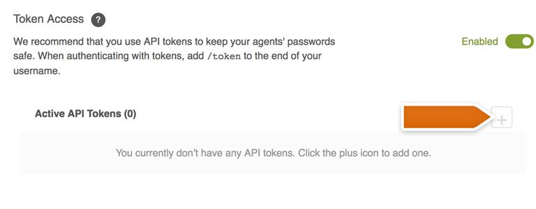 Generate new API token in Zendesk