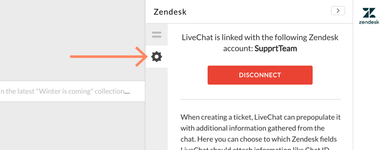 Zendesk LiveChat: Go to Settings of your Zendesk
