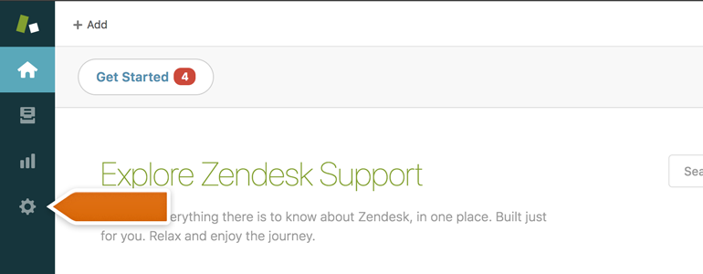 Go to Settings of your Zendesk