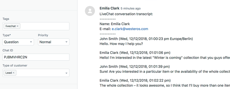 Zendesk LiveChat: Advanced ticket overview