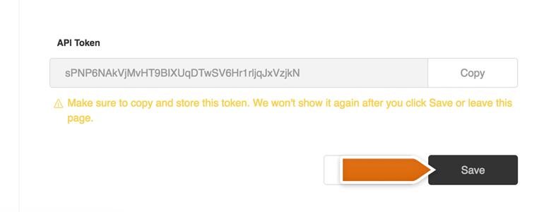 Save your new API token